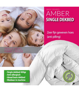 Dekbed Amber Single - Enkel - Synthetisch - 400 g/m2
