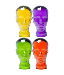 Deco Head Transparant - Assorti 34861