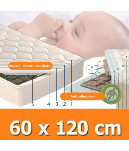 Baby matras bonell system classic 60x120