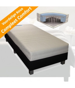 Luxe hotelbox Swing 1Persoons 90x200 - compleet + matras