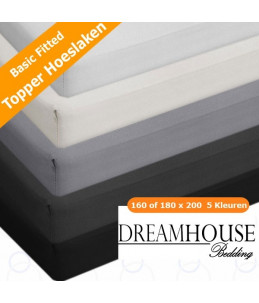 Dreamhouse Bedding | topper hoeslaken 100% glad katoen