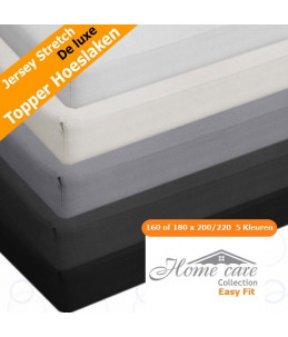 Home Care | Jersey Topper hoeslaken 100% Katoen - Easy stretch