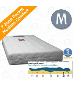 Cosmic 7 zone 300 pocket matras - Medium - 22 cm - HR40 Koudschuim