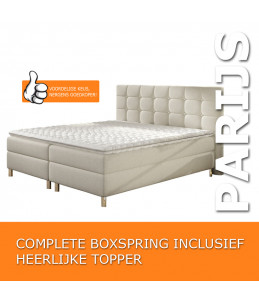 "Boxspring ""Amsterdam"" Complete Set + Gratis Topper"