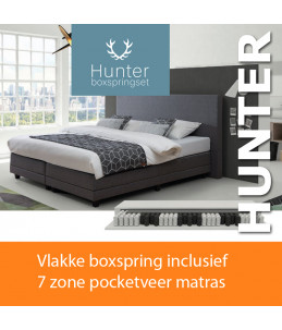 "Axelssøn Boxspring ""Hunter"" incl 7-zone Pocket-Geveerd"