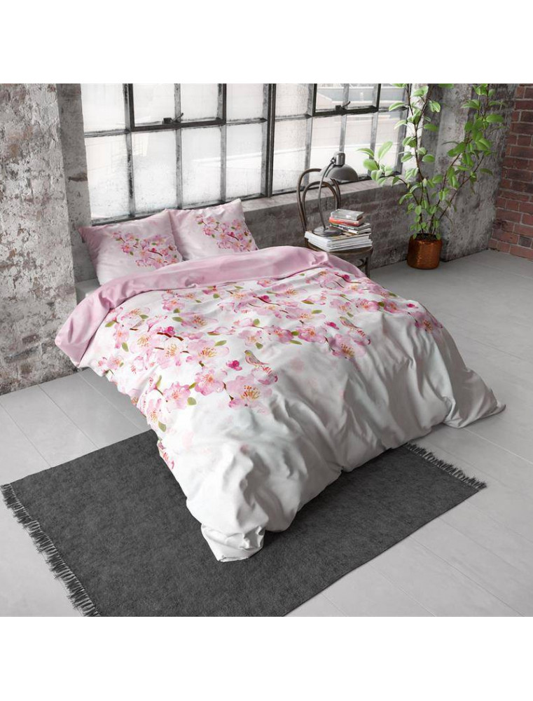 Dekbedovertrek | Dream House Flanel sweet Flowers Pink