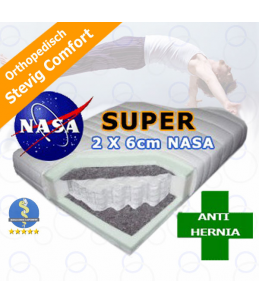 VanDePlas (v/d Bilt) -De Luxe- 7 zone pocket matras super NASA - Stevig