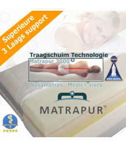 Visco Nasa-Matras MatraPur™ 3000(De luxe Medic+)Drielaags Technologie